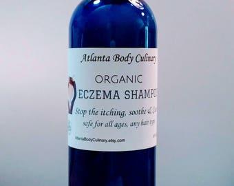 Organic Eczema shampoo vegan eczema shampoo soothing eczema shampoo scalp moisturizing medicinal shampoo