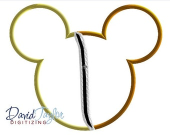 Chip and Dale Mouse Head - 4x4, 5x7 and 6x10 in 9 formats - Applique - Instant Download - David Taylor Digitizing