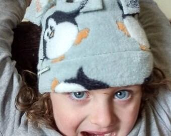 Penguin Cuddle Fleece Tassel Hat for all Ages/Sizes