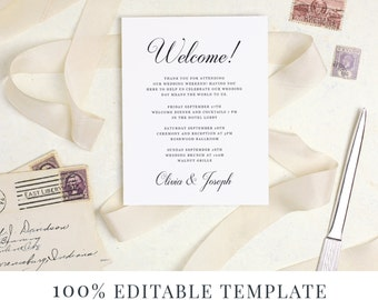 Welcome template guest bag card hotel card word or pages welcome template guest bag card hotel card word or pages mac or pc handwritten love letter instant download spiritdancerdesigns Choice Image