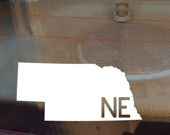 Nebraska Car Decal, State Decal, Nebraska Decal, Laptop Decal, Laptop Sticker, Car Sticker, Car Decal, Vinyl Decal, NE, Window Decal, Home