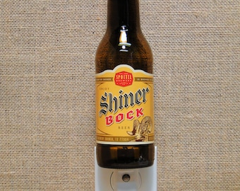 Shiner Bock 12oz. Glass Bottle Night Light