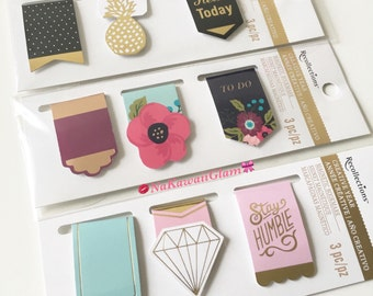 Recollection Magnetic Bookmark: for Planner, Agenda, Notebook, (Filofax, Kikkik, LV, Kate Spade)