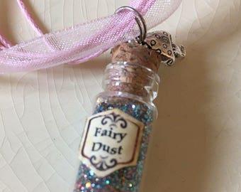 Fairy Dust miniature corked bottle pendant necklace