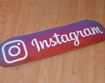 Instagram Skateboard Deck 8.0