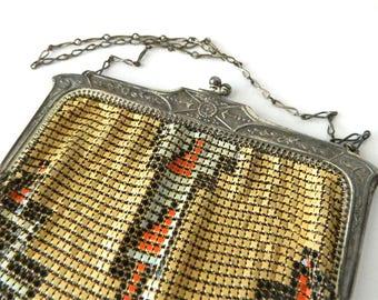Vintage 1920s Art Deco Handbag by Whiting and Davis