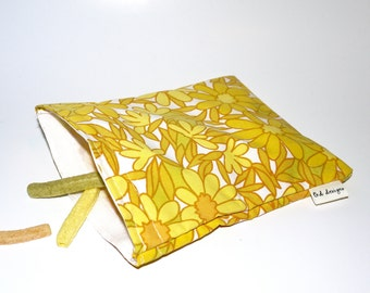 Eco Friendly Snack Bag made with recycled fabric.