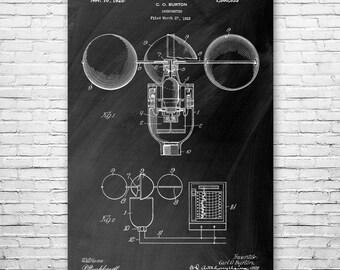 Anemometer Poster Art Print, Meteorology Poster, Weather, Science, Wind Speed, Meteorology, Meteorologist, Gift, Poster Print, Wall Art