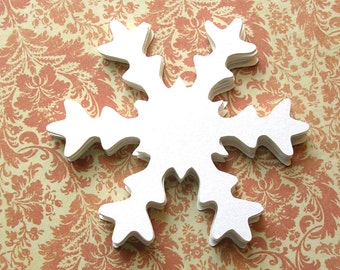 Die Shimmer coupe gros flocons de neige - lot de 20 - Noël flocons de neige - 3 pouces de gros confettis flocons de neige - Noël BRICOLAGE Decor
