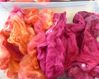 Hope Jacare - Just gorgeous approx 25g hand dyed silk hankies SH64
