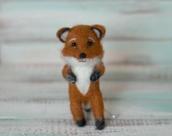 Mini Felted Fox Baby Newborn Photography Rust Autumn