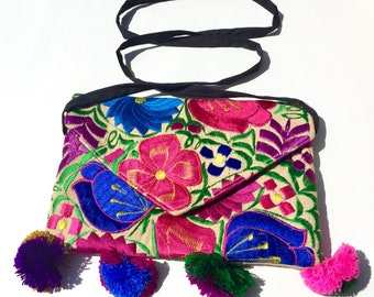 Handmade embroidered envelope purse