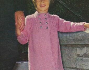 1970 Girls Knit Coat Pattern