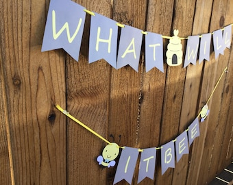 What Will It BEE Gender Reveal Banner Babyshower