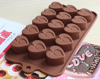 chocolate heart mold- peanut butter cup mold - fondant mold - gum-paste mold - cake mold - polymer clay mold - resin mold
