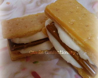 Smores, Campfire, Bakery Wax Tarts, Scented Wax, Fall Wax Melts, Soy Tart Melts, Dessert Melts, Creative Gifts, Outdoors, Candle Creations