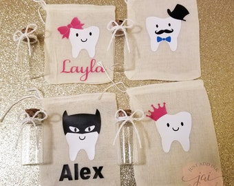Personalized Tooth Fairy Bag, Tooth Fairy Keepsake, Tooth Fairy Pouch, Tooth Fairy Sack, Tooth Fairy Bag, Gift For Kids, Tooth Container