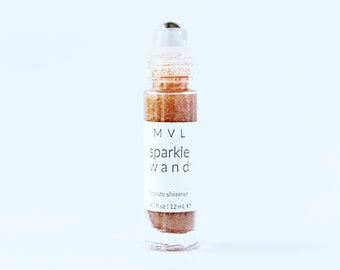 BRONZE SPARKLE WAND - Shimmer Wand, glow wand, 100% natural and vegan