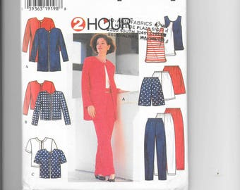 "Simplicity 7249 ""2 hour"" - Ladies Pants, Shorts, Top and Jackets"