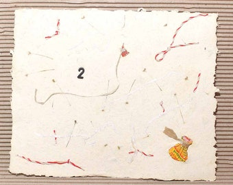 Handmade paper, Cotton rag Paper, Deckle Edge Paper, Deckled Edge Paper, колбаса, веревочки
