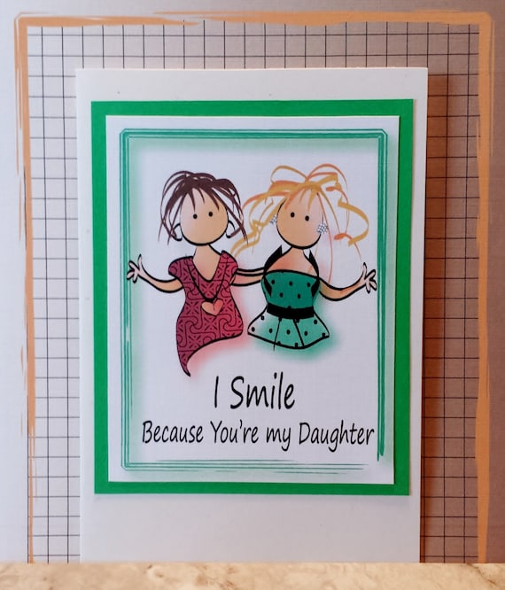 Daughter birthday card funny birthday card for daughter like this item bookmarktalkfo Gallery