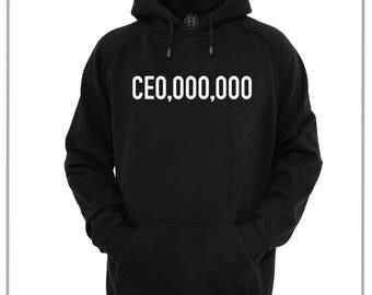 CEO,OOO,OOO  Hoodie / Hoody Hustle Boss Game Changer Player