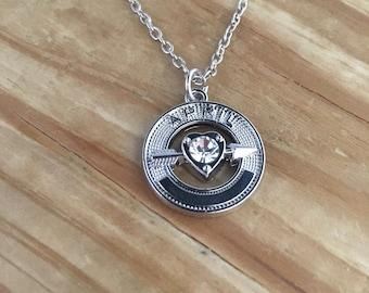 April birthstone necklace, april necklace, april pendant, crystal birthstone necklace, crystal pendant necklace, necklace april, birthday