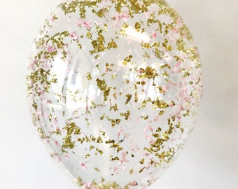 Métallisé or Blush rose ballon confettis - 11 16 24 36 pouces taille - NYE Yeares Nouvelle Eve Birthday party bachelorette mariage nuptiales de douche
