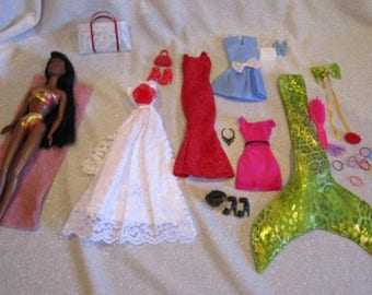 Ethnic Barbie Doll with Black Hair & Brown Eyes Gift Set