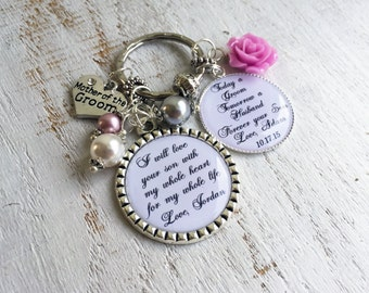 Mother-in-Law Keychain Mother-of-the-Groom Keychain Mother in Law Gift from Bride and Groom Mother in Law Wedding Keychain Mother Gift