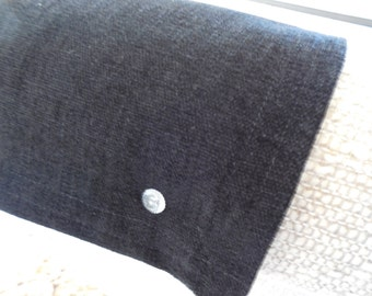 Furniture Cover, Recliner Cap, Chair Head Cover, Headrest Pad, Deluxe UF-Benson Black, United Fabrics Upholstery, 14x30, Sofa, Gift Idea