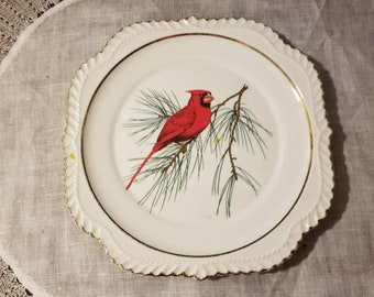"Vintage, Cardinal, 8"" Square Salad Plate, mismatch"