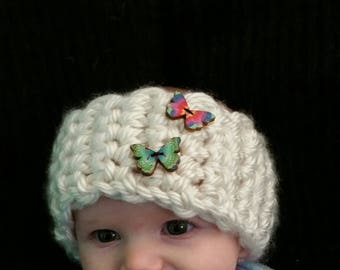Girl's Earwarmer with Butterfly Buttons