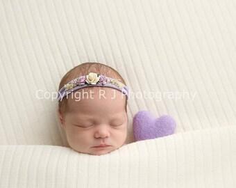 Grace, Baby Headband, Newborn Photo Prop, Baby Girl Headband, Newborn Headband, Headband, Flower Headband, Newborn Props, Baby Headbands