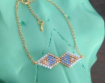 Miyuki Golden weaving geometric bracelet