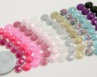 6mm Mini Resin Cabochons - 50 pc set