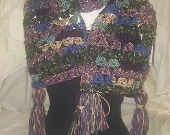Spring meadow tassle scarf
