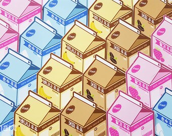 Aesthetic Korea Milk Carton Vinyl Laptop Stickers