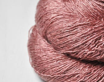 Forgotten brick ruin - Tussah Silk Lace Yarn - Hand Dyed Yarn - handgefärbte Wolle - DyeForYarn