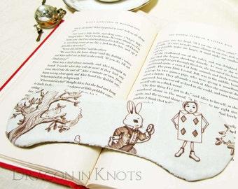 White Rabbit Book Weight - Alice's Adventures in Wonderland inspired Weighted Bookmark Page Holder - Alice in Wonderland Book Opener