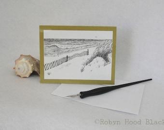 Beach Single Card with Optional Mat