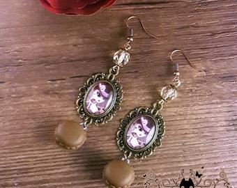 Handmade Steam T earrings // Steampunk jewelry