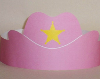Cowgirl Paper Crown - Printable
