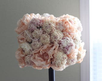 Pink Peony lamp shade// Victorian Decor// Wedding Decor