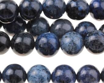 "Dakota Stones Dumortierite 8mm Round Gemstones. 8"" Strand. DMT8RD-8"