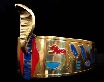 Egyptian Brass Queen Cleopatra Cobra Armband Halloween Costume