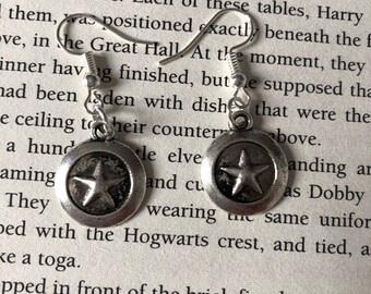 Captain america shield earrings