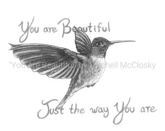 You Are Beautiful - Framed Print