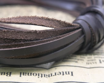 10 Yard 4x1mm Flat Brown Soft Real Leather Cord