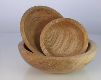 Ash wood nesting bowl set